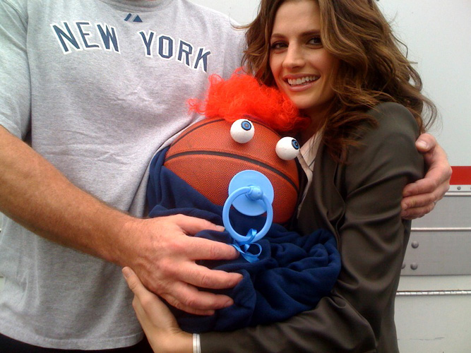 "Castle Star Stana Katic Shows Off New, Uh, ""Baby"""