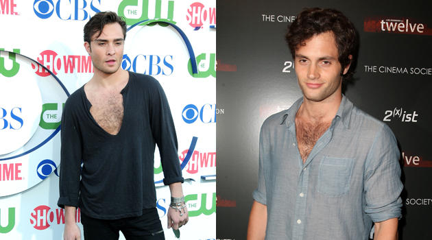 Who Has the Hottest Chest Hair: Ed Westwick or Penn Badgley?
