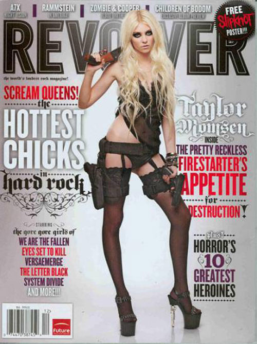 Guns and Lingerie: Does Taylor Momsen's 'Revolver' Cover Go Too Far?