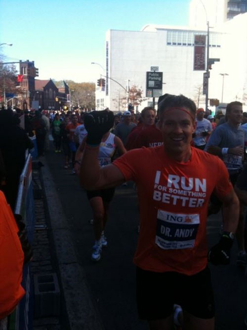 Bachelor Andy Baldwin Runs NYC Marathon to Fight Childhood Obesity