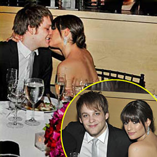 Lea Michele and Theo Stockman Caught Kissing
