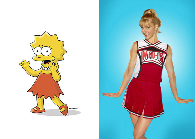 The Cast of Glee Gets 'Simpsons'-ized!