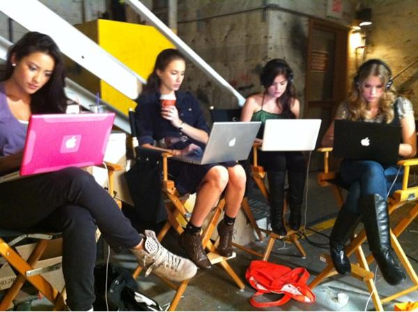 Lucy Hale Is Addicted to Social Networking