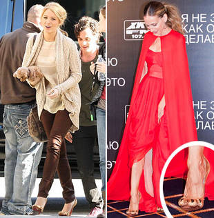 Blake Lively Vs. Sarah Jessica Parker in Christian Louboutin's Lion Paw Pumps: Who's Hotter?