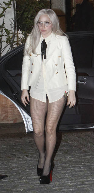 Hot or Not: Lady Gaga Wears Preppy Shirt…and No Pants