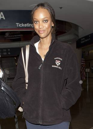 Tyra Banks Show Off Her Big, Beautiful Brain at LAX