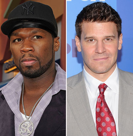 So Gangsta! David Boreanaz Chills With 50 Cent on The Finder [PHOTO]