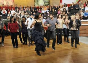 Maksim Chmerkovskiy Surprises Top Chef's Carla Hall With Flash Mob On The Chew