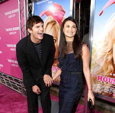 Awkward Alert! Demi Moore and Ashton Kutcher Have a Dinner Date Run-in