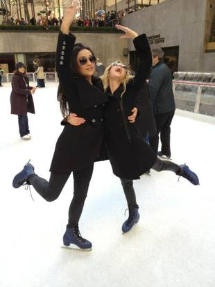 Cute! Ashley Benson and Shay Mitchell Go Ice Skating in New York