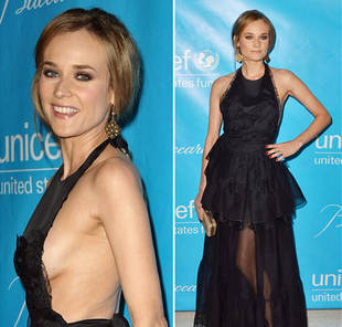 Hot or Not? Diane Kruger Shows Side-Boob at the 2011 Unicef Ball