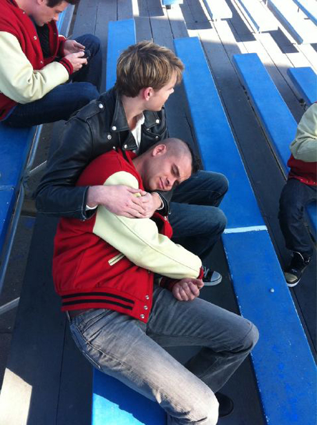 Chord Overstreet and Mark Salling Get Cozy on Glee Set — Cute Pic of the Day!
