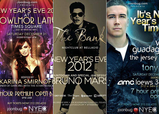 2012 New Year's Eve Celebrity Party Roundup: Ring in the New Year in Style!