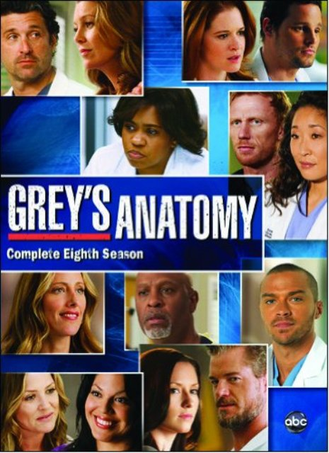Grey's Anatomy Season 8 DVD: Is This the Official Cover Art?