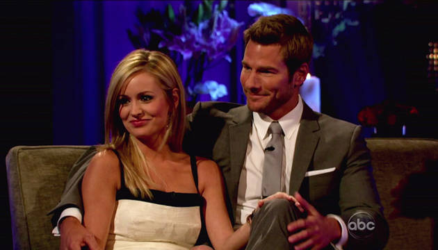 """Bachelor Host Chris Harrison: """"BS"""" in Tabloids Hurt Brad and Emily, but They Are Still Together"""