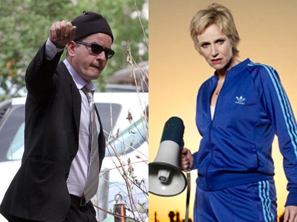 Who's Crazier: Sue Sylvester or Charlie Sheen?