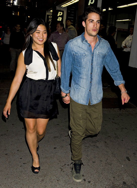 It's Official! Michael Trevino and Jenna Ushkowitz Spotted Getting Close at Broadway Show