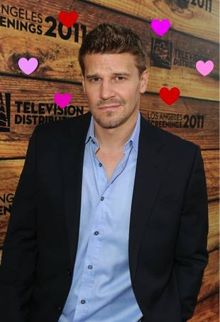 David Boreanaz Reacts on Twitter to His January 2012 Glee Shout-out