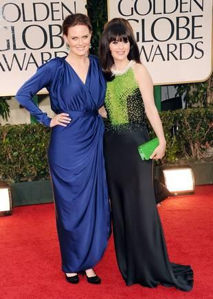 Golden Globes Fashion Face-off: Emily Deschanel vs. Sister Zooey (POLL)