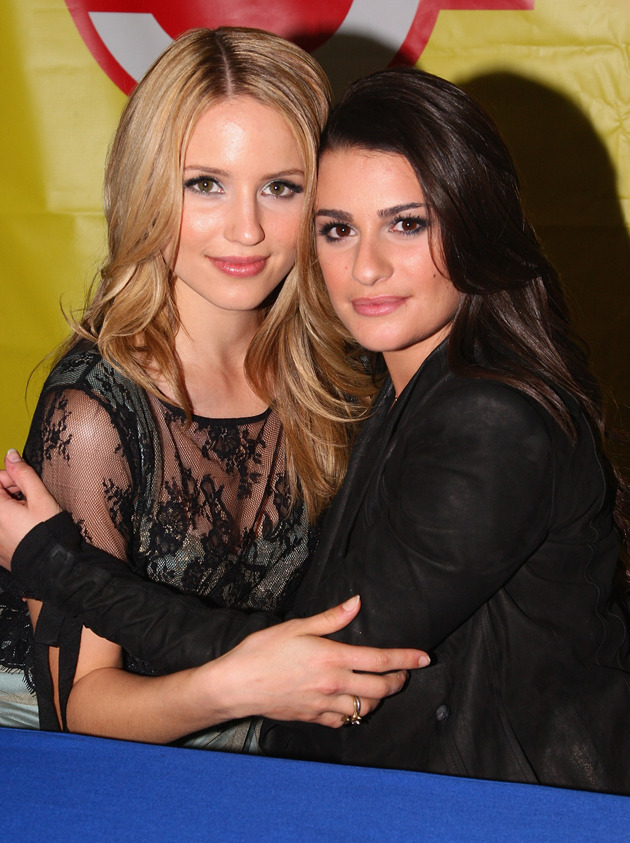 FaBerry Alert! Lea Michele and Dianna Agron Film a Scene Together