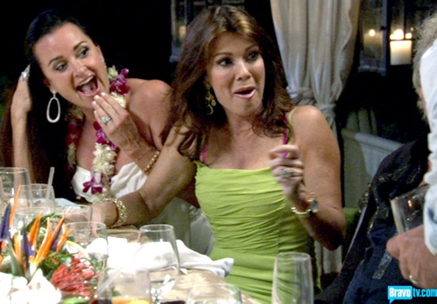 Real Housewives of Beverly Hills Fashion: Brighten up Like Lisa Vanderpump's Neon Green Dress From Season 2, Episode 18