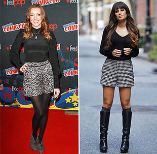 Gossip Girl's Katie Cassidy vs. Glee's Lea Michele: Who Wore High-Waisted Print Shorts Better? (PHOTO)