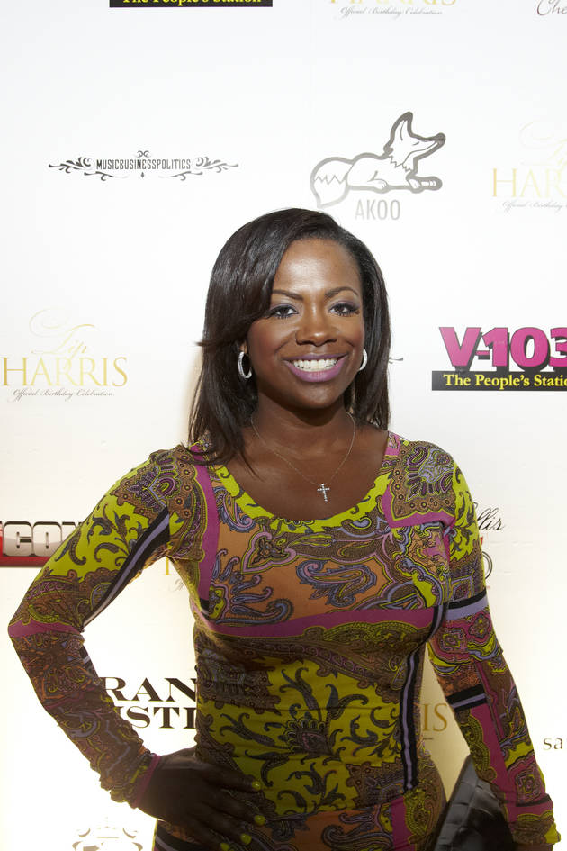 Kandi Burruss Looks Pretty in Paisley at T.I.'s Birthday Party (PHOTOS)