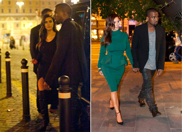 Kim Kardashian Changes Outfits Mid-Meal While Dining With Kanye West in Rome (PHOTOS)