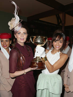Ashley Madekwe Heads to Australia For the Melbourne Cup: Is Her Sparkling Look Hot or Not? (PHOTOS)