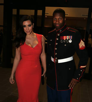 "Kim Kardashian's Marine Corps Date Says Kim Was His ""Only Choice"" For the Ball"