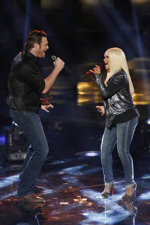 """Watch Christina Aguilera and Blake Shelton Sing """"Just a Fool"""" on The Voice Season 3 Live Rounds, Nov. 19, 2012 (VIDEO)"""