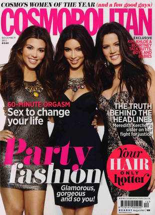 "Khloe Kardashian Covers Cosmo UK With Kourtney and Kim: ""I Don't Want to Be a Size Zero"""