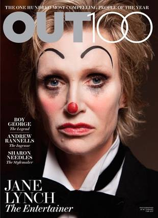 Jane Lynch, Entertainer of the Year,  Makes Cover of OUT Magazine