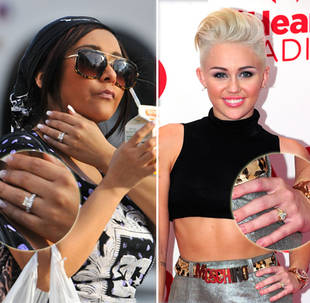 Snooki vs. Miley Cyrus: Who's Humongous Engagement Ring Is Better?