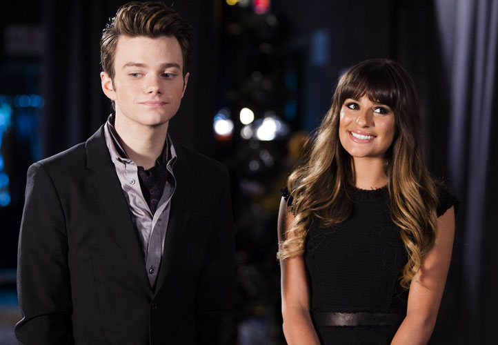 Glee Season 4 Christmas Spoilers: Were BOTH Lea Michele and Chris Colfer Filming in NYADA's Round Room?