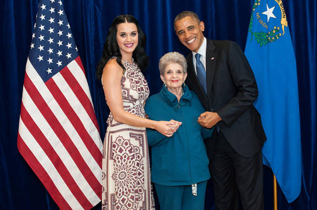 Katy Perry Tweets Adorable Picture With Her Grandmother and Barack Obama! (PHOTO)