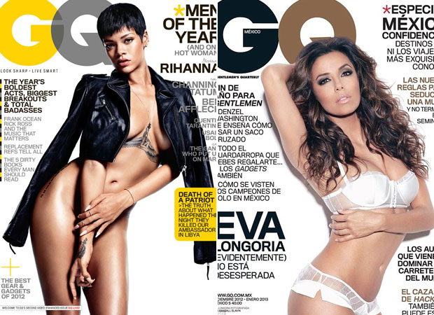 Rihanna vs. Eva Longoria: Whose Racy GQ Cover Is Hotter?