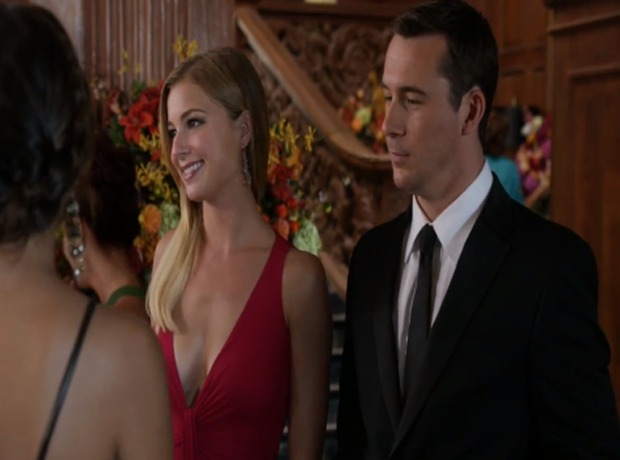 "Revenge Season 2, Episode 6, ""Illusion"" Spoiler Clip: Emily and Aiden Share an Awkward Encounter With Daniel and Ashley (VIDEO)"