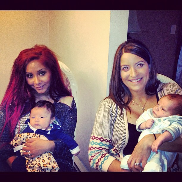 "Check Out Snooki's Baby Lorenzo With His ""Future BFF"" (PHOTO)"