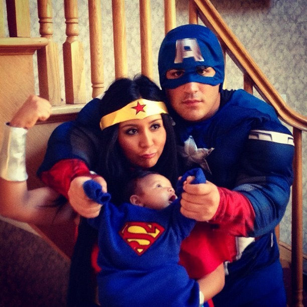 Snooki, Jionni, and Baby Lorenzo Finally Celebrate Halloween: Check Out Their Costumes (PHOTO)