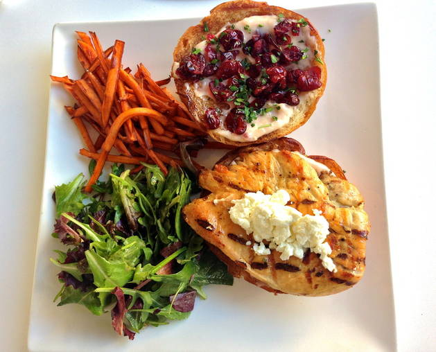 Lisa Vanderpump's Thanksgiving Turkey Burger Recipe With Cranberries, Goat Cheese, and Sweet Potato Fries — Exclusive!