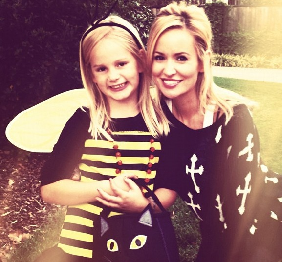 "Emily Maynard and Daughter Ricki Have a ""Happy Halloween"" — While Jef Catches a Basketball Game Across the Country"