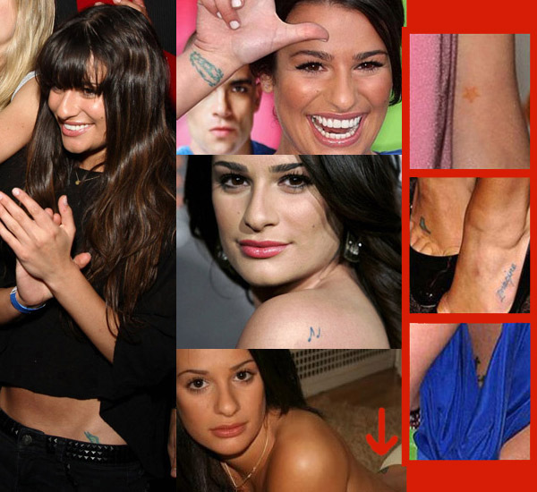 How Many Tattoos Does Glee's Lea Michele Have?