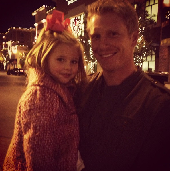 "Bachelor Sean Lowe Returns From Filming, Tweets ""Back Home With the One Who Stole My Heart"""