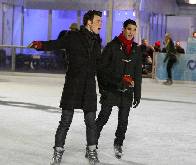 "Glee Christmas Scoop: Kurt and Blaine's Ice Skating Date Is ""Not What Everybody Thinks"""