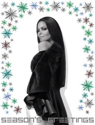 Engaged Janet Jackson Sends Out a Sexy Holiday Greeting (PHOTO)
