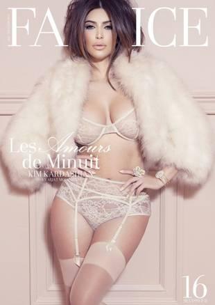 Kim Kardashian Wears Sheer Lingerie For Factice Magazine Cover (PHOTO)