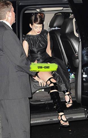 Anne Hathaway Skips Underwear and Suffers Embarrassing Wardrobe Malfunction (PHOTO)