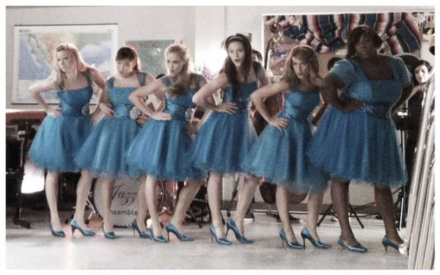 Glee Spoiler: Brittany, Marley and the Girls in Matching Dresses — What For? (PHOTO)