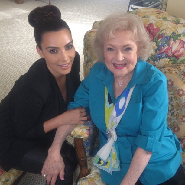 Kim Kardashian to Get Beauty Advice… From Betty White!